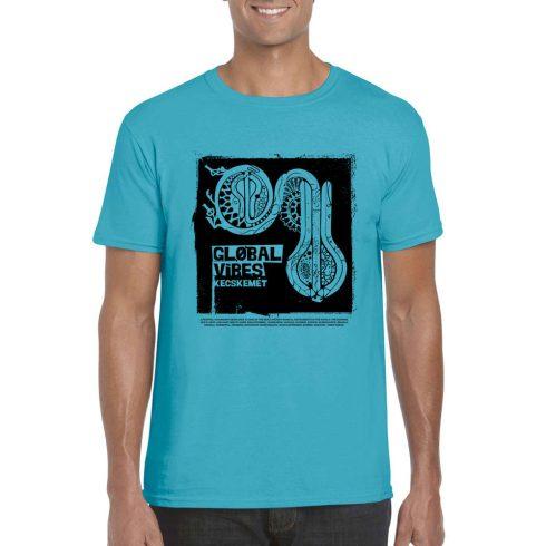 Global Vibes Póló, kék L
