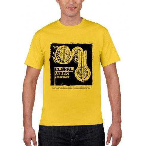 Global Vibes Póló, sárga L