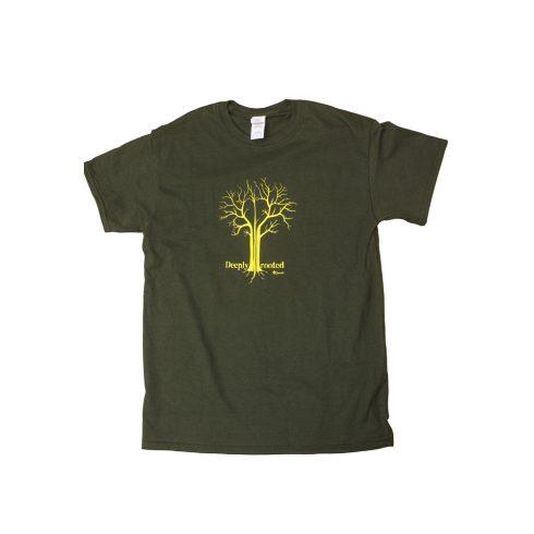 Zöld dorombos póló - Deeply Rooted